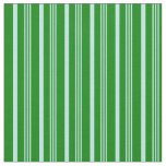 [ Thumbnail: Turquoise and Green Colored Striped/Lined Pattern Fabric ]