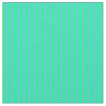 [ Thumbnail: Turquoise and Green Stripes Fabric ]
