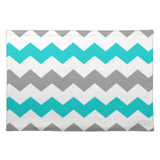 Turquoise and Grey Chevron Placemat