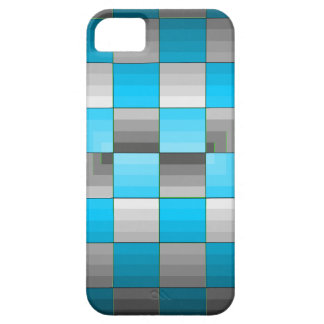 Turquoise and Grey Optical Illusion Checkerboard iPhone 5 Case