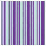 [ Thumbnail: Turquoise and Indigo Colored Striped Pattern Fabric ]