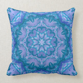 Turquoise and Lavender Victorian Floral Throw Pillow
