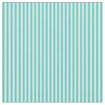 [ Thumbnail: Turquoise and Light Cyan Colored Striped Pattern Fabric ]