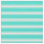 [ Thumbnail: Turquoise and Light Yellow Colored Pattern Fabric ]