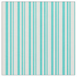[ Thumbnail: Turquoise and Light Yellow Colored Stripes Fabric ]