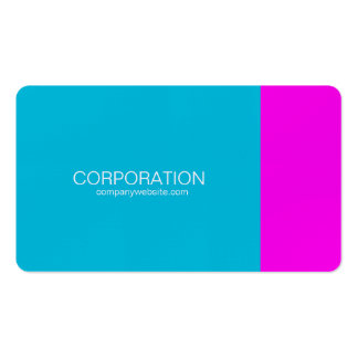 Turquoise and magenta classy business card
