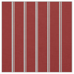 [ Thumbnail: Turquoise and Maroon Stripes/Lines Pattern Fabric ]