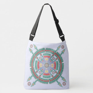 Turquoise and Melon Tribal Motif Bag