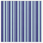 [ Thumbnail: Turquoise and Midnight Blue Lines/Stripes Pattern Fabric ]