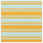 [ Thumbnail: Turquoise and Orange Colored Lines Pattern Fabric ]