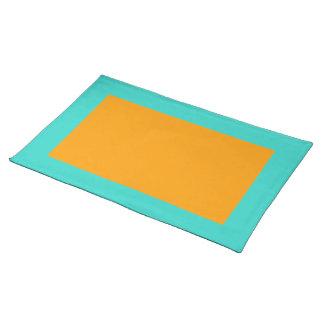Turquoise and Orange Placemat