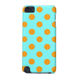 Turquoise and Orange Polka Dots iPod Touch 5G Case