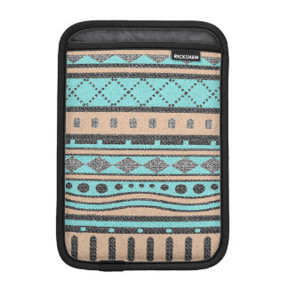 Turquoise And Peach Tribal Pattern Sleeve For iPad Mini