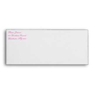Turquoise and Pink A10 Return Address Envelope