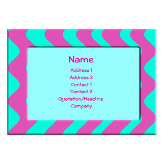 Turquoise and Pink Business Cards