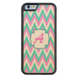 Turquoise and Pink Chevron Pattern Iphone 6 Case Maple iPhone 6 Bumper Case