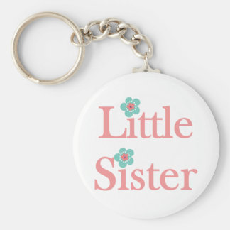 turquoise and pink flower little sister key chain