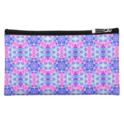 Turquoise and Pink Hippie Mandala Pattern Cosmetics Bags