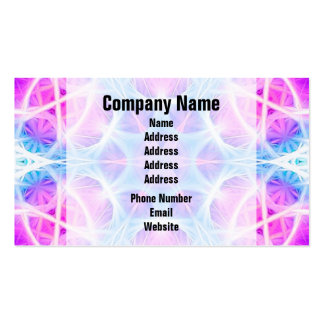 Turquoise and Pink Hippie Mandala Pattern Business Card