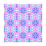 Turquoise and Pink Hippie Mandala Pattern Stretched Canvas Print