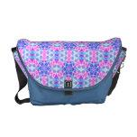 Turquoise and Pink Hippie Mandala Pattern Messenger Bag