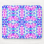 Turquoise and Pink Hippie Mandala Pattern Mouse Pad