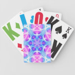 Turquoise and Pink Hippie Mandala Pattern Bicycle Poker Cards