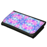 Turquoise and Pink Hippie Mandala Pattern Leather Wallets