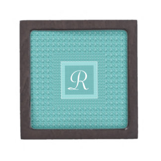 Turquoise and Pink (Letter R) Monogram Gift Box