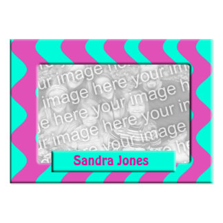 Turquoise and Pink photo frame Business Card