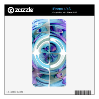 Turquoise and Purple Abstract Collage Skins For The iPhone 4S