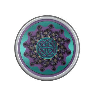 Turquoise and Purple Celtic Knot Mandala Speaker
