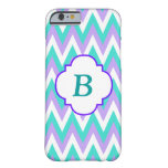 Turquoise and Purple Chevron Pattern Iphone 6 Case