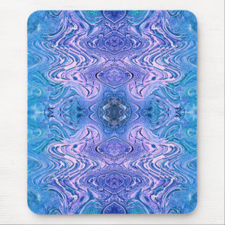 Turquoise and Purple Glass Abstract Mouse Pad
