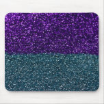 Turquoise and Purple Glitter Sparkles Mouse Pad