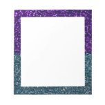 Turquoise and Purple Glitter Sparkles Notepads