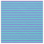 [ Thumbnail: Turquoise and Purple Lined Pattern Fabric ]