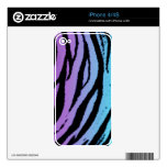 Turquoise and Purple Tiger Skins Skins For The iPhone 4