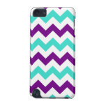 Turquoise and Purple Zigzag iPod Touch (5th Generation) Cases