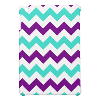 Turquoise and Purple Zigzag iPad Mini Cases
