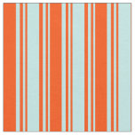 [ Thumbnail: Turquoise and Red Colored Striped Pattern Fabric ]