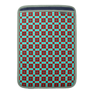 Turquoise and Red Pattern Sleeves For MacBook Air