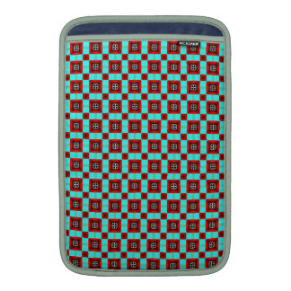 Turquoise and Red Pattern MacBook Air Sleeve