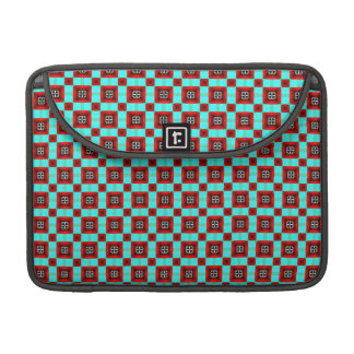 Turquoise and Red Pattern Sleeves For MacBook Pro