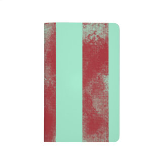 Turquoise and Red Stripes Journals