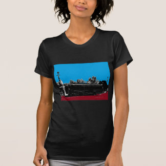 Turquoise and Red with Black Ink T Shirt