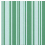 [ Thumbnail: Turquoise and Sea Green Colored Striped Pattern Fabric ]