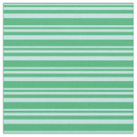 [ Thumbnail: Turquoise and Sea Green Pattern Fabric ]
