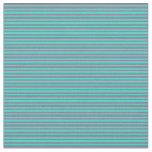 [ Thumbnail: Turquoise and Slate Gray Colored Pattern Fabric ]
