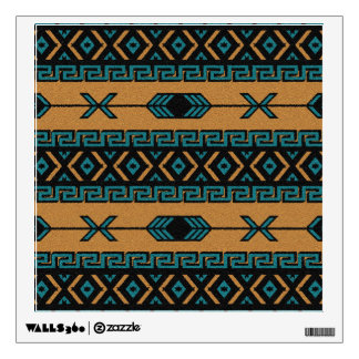 Turquoise  And Tan Aztec Pattern Southwest Room Graphic